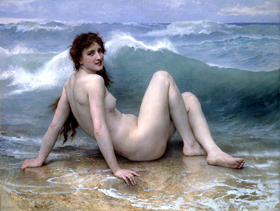 William-Adolphe Bouguereau - The Wave 1896